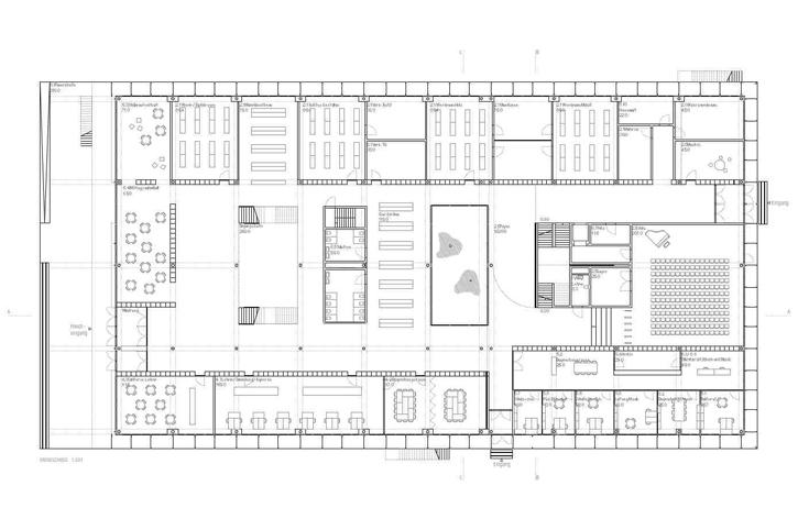 Grundriss Zeichnen Unterricht : Wettbewerb Erweiterung  Sanierung Oberstufenschulhaus, Horw LU